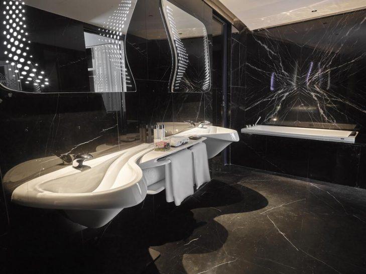 ME Dubai by Melia Chic Suite Bathroom