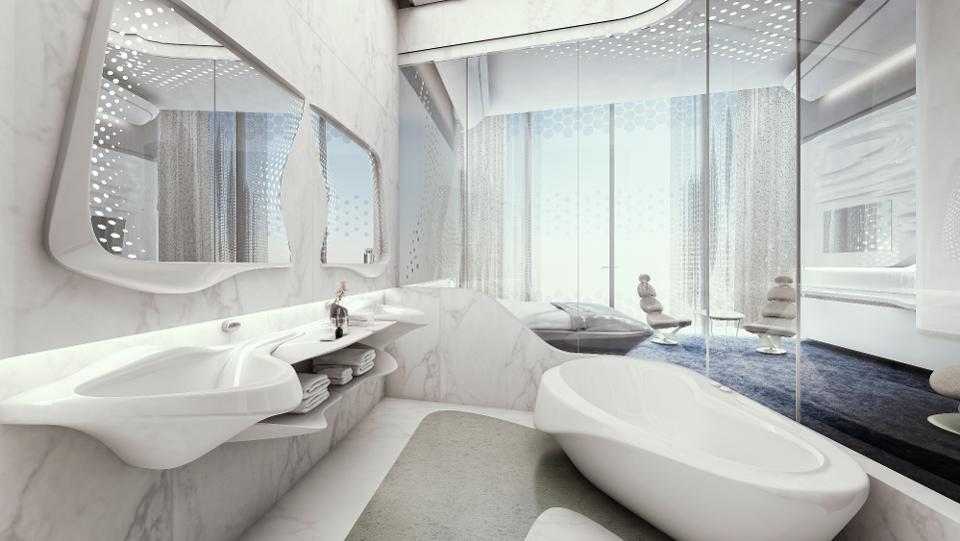 ME Dubai by Melia Personality Suite Bathroom