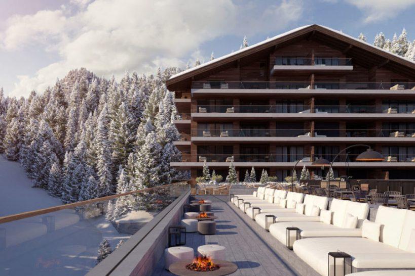 Six Senses Residences Crans Montana Outdoor Deck
