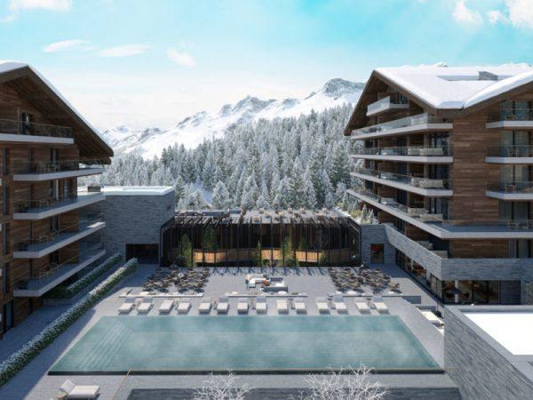 Six Senses Residences Crans Montana Outdoor Pool