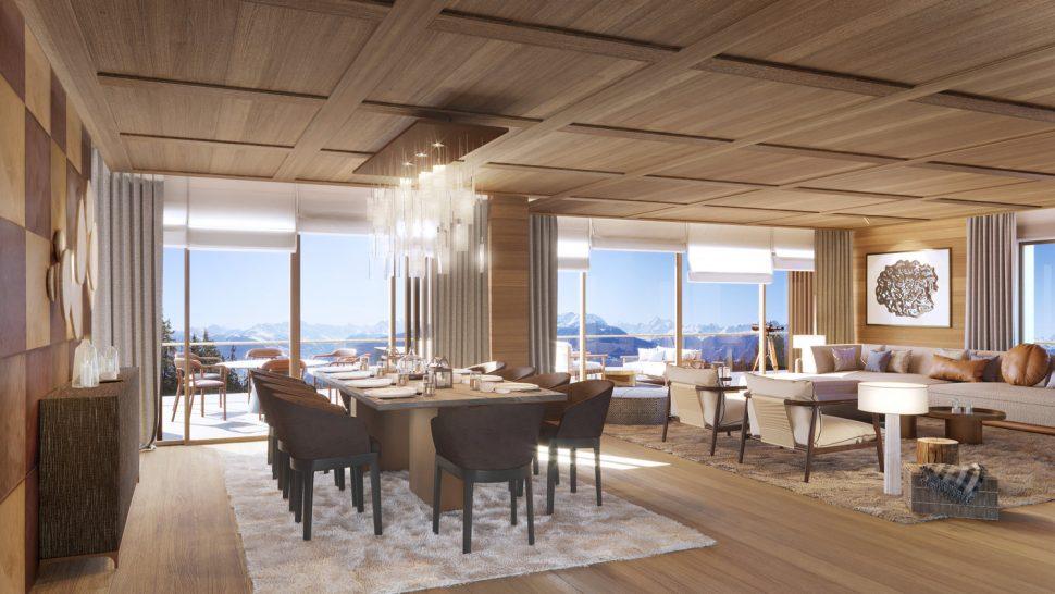 Six Senses Residences Crans Montana Suite Dining Room