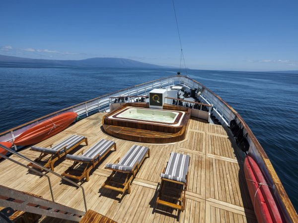 Quasar Expeditions Galapagos Island MV Evolution Yacht Deck