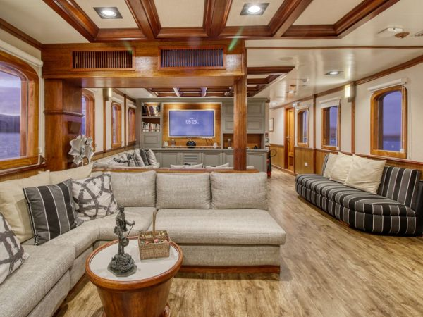 Quasar Expeditions Grace Kelly Yacht Inside Salon