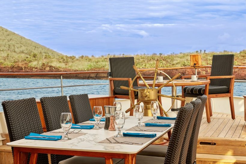 Quasar Expeditions Grace Kelly Yacht Outside Dining