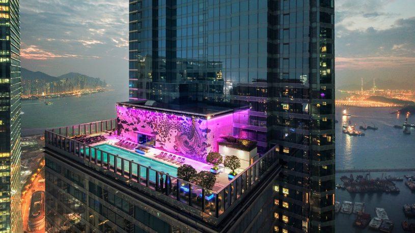 W Hotel Hong Kong Pool Panorama