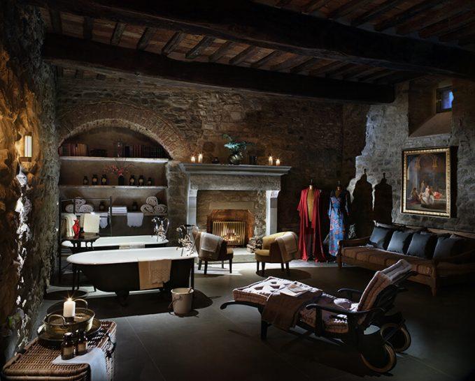 Castello di Reschio Umbria Bathhouse Private Spa