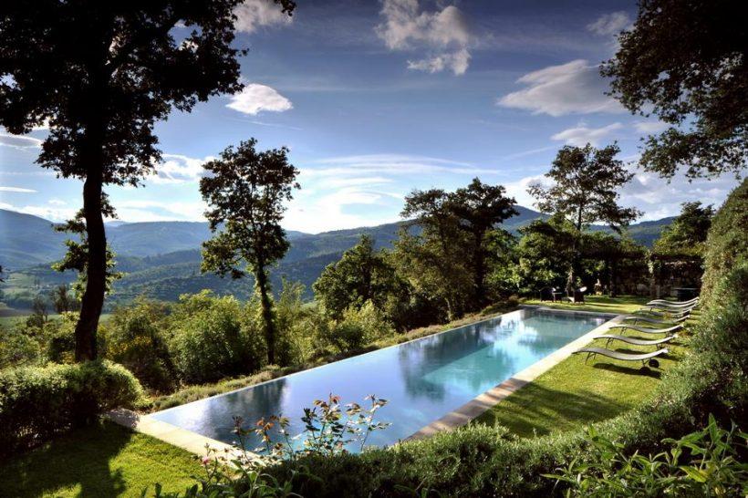 Castello di Reschio Umbria Villa Pool