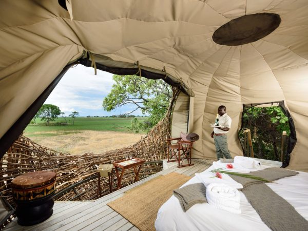 Chisa Busanga Camp Zambia Nest Suite Bedroom