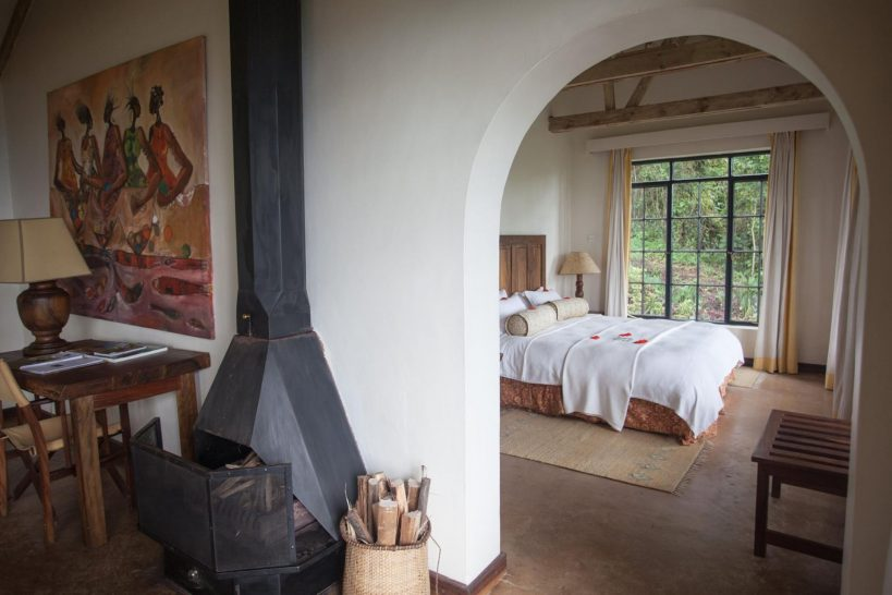 Clouds Mountain Gorilla Lodge Cottage Bedroom
