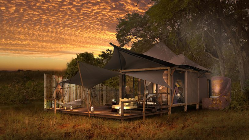 Khwai Leadwood Camp Botswana Tented Room Exterior