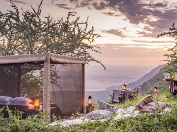 Mwiba Lodge Tanzania Fly Camp Dining