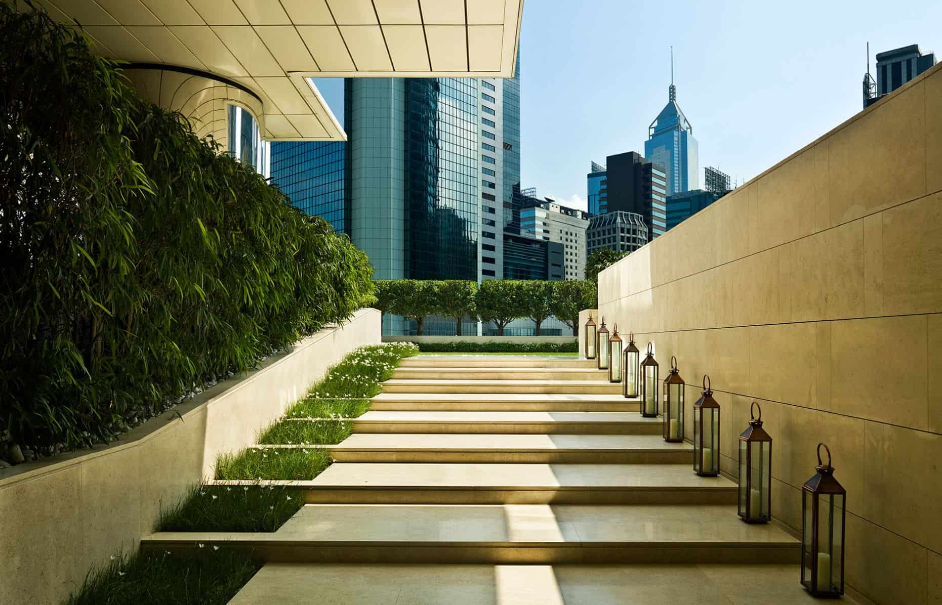 The Upper House Hong Kong The Lawn Entrance