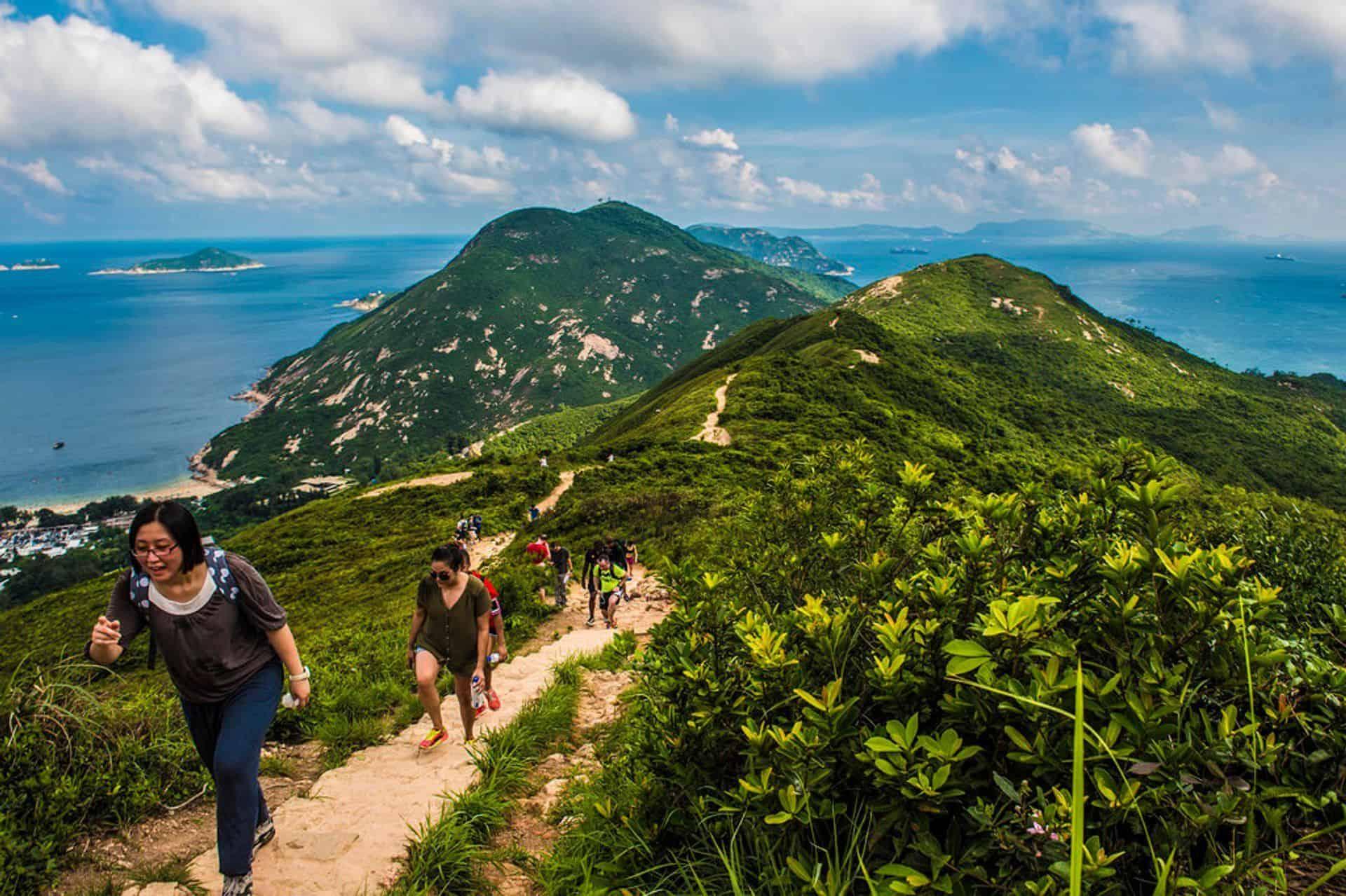 Dragons Back Hiking Trail Hong Kong