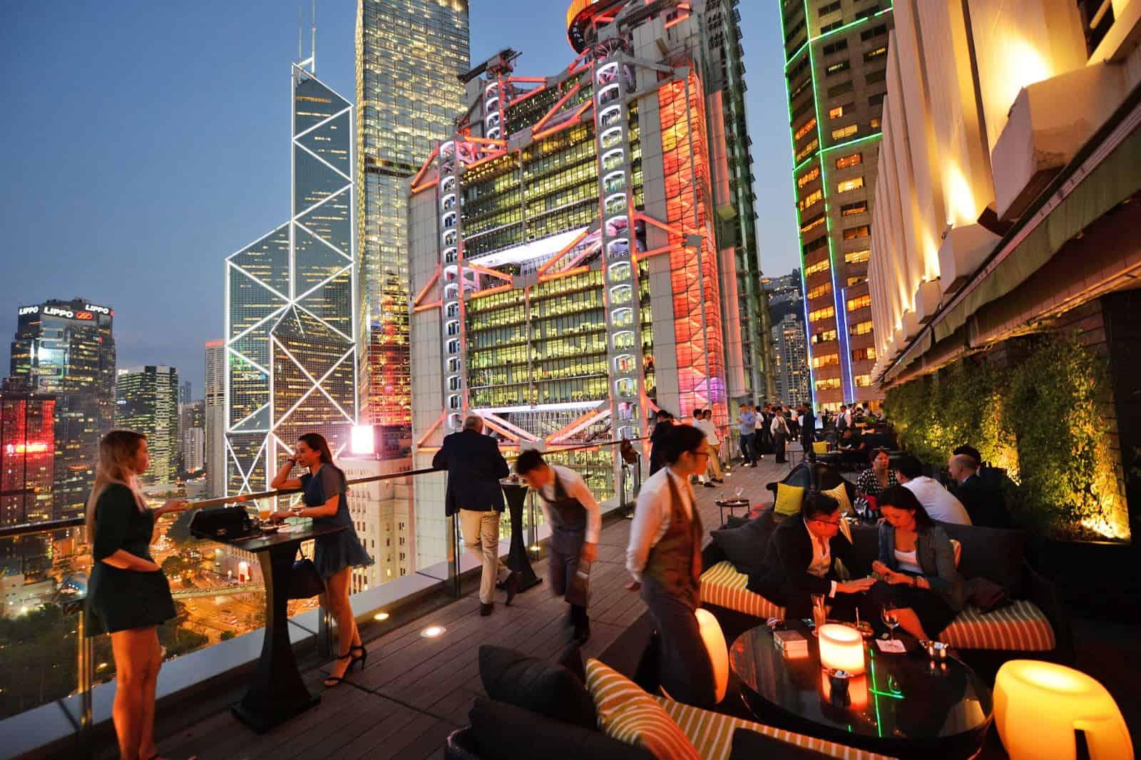 Sevva Rooftop Bar Hong Kong