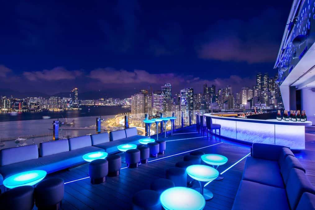 Skye Rooftop Bar Parklane Hong Kong