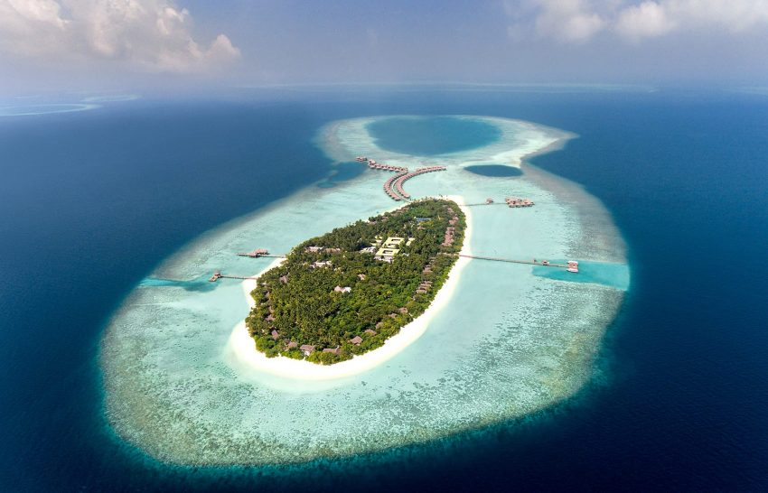 Vakkaru Maldives Resort Aerial View